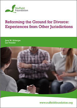 Jens Scherpe research published by Nuffield Foundation: 'Reforming the Ground for Divorce: Experiences from Other Jurisdictions'